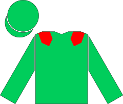 Racing silks of Aga Khan.svg
