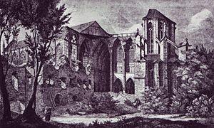 Altenberger Dom - Ruins of Altenberger Dom, 1834, etching by E. Gerhardt