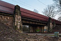 Railroad bridge freight train bypass Tiergarten Kirchrode Hannover Germany 02.jpg