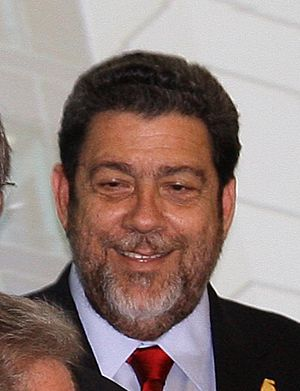 Monarchy of Saint Vincent and the Grenadines - Ralph Gonsalves, the Queen's chief minister in Saint Vincent and the Grenadines.