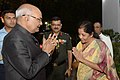 Ram Nath Kovind being received by the Union Minister for Defence, Smt. Nirmala Sitharaman, at the 'At Home' hosted by the Chief of the Air Staff, Air Chief Marshal B.S. Dhanoa.jpg