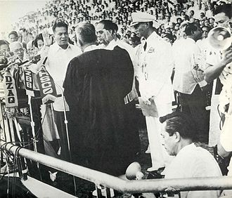 Ramon Magsaysay - Ramon Magsaysay swears in as the 7th President of the Philippines on December 30, 1953