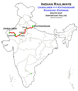 ranikhet express wikivisually Train to Lhasa ranikhet express jaisalmer kathgodam route map