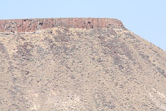 Ignimbrite - The caprock in this photo is the ignimbrite layer of the Rattlesnake Formation in Oregon.