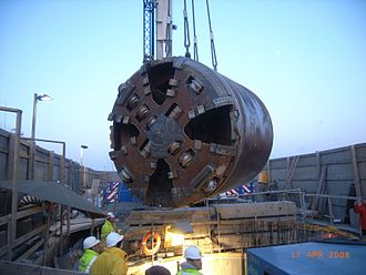 Liffey Service Tunnel - Recovery of the TBM after tunnel completion