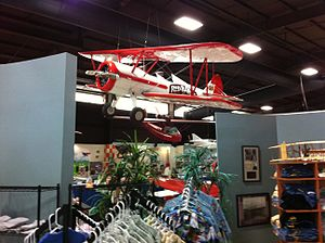 Florida Air Museum - One of the famous Red Baron Pizza aerobatic team's Stearmans on display.