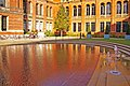 Reflection in water in garden at Victoria and Albert Museum, London SW7 - geograph.org.uk - 1034290.jpg