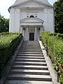 Reformed Church, stairs in Gyömrő, Pest County, Hungary.jpg