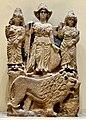 Relief of the Arabian goddess Al-Lat, Manat and al-Uzza from Hatra. Iraq Museum.jpg