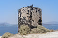 Remains of a windmill at the crater rim near Akrotiri - Santorini - Greece - 01.jpg