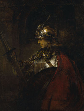 REMBRANDT Harmenszoon van Rijn A Man in Armour 1655