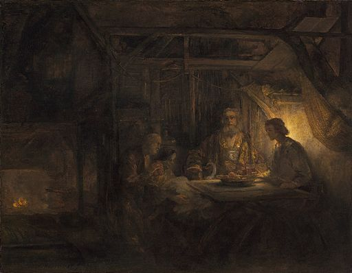 Rembrandt van Rijn - Philemon and Baucis (National Gallery of Art)