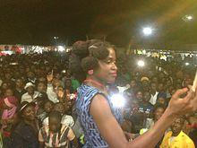 Reniss performing in Dschang, Cameroon, November 5, 2016.