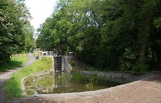 Monmouthshire and Brecon Canal - One of the restored locks on the fourteen locks flight.