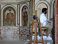 Restorer at Work - Borovjerdi Historical House - Kashan - Central Iran - 02 (7453859740) (2).jpg