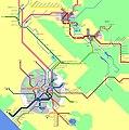 Rete dei trasporti del settore nord-est dell'area metropolitana di Roma 2019.jpg