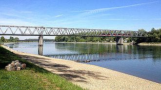 Germersheim - Railway bridge over the Rhine River