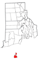 Rhode Island Municipalities New Shoreham Highlighted.png