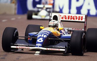 Williams FW14 - Riccardo Patrese driving the FW14 at the 1991 United States Grand Prix