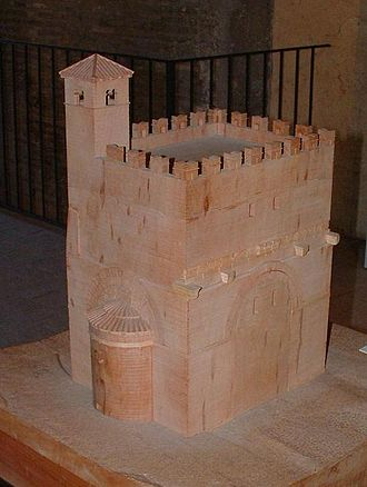 Arch of Malborghetto - Ceramic model of the Arch of Malborghetto transformed into a church