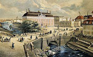 1841 in Sweden - Riddarholmsbron 1841a
