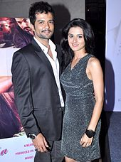 Riddhi and Raqesh poses for the camera