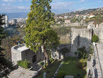 Trsat - View of Rijeka from Trsat Castle.