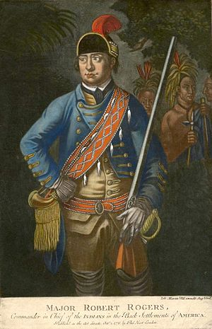 Robert Rogers (soldier) - This 1776 painting is the only known portrait of Robert Rogers from life and from the portrait painter's interpretation.