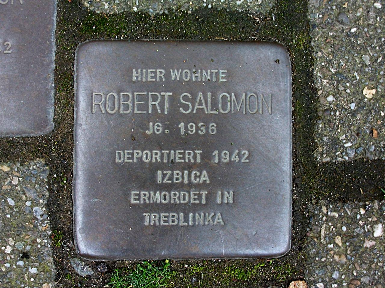 Stolperstein für Robert Salomon