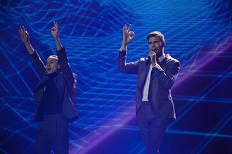 Robin Bengtsson - Robin Bengtsson performing at Eurovision 2017
