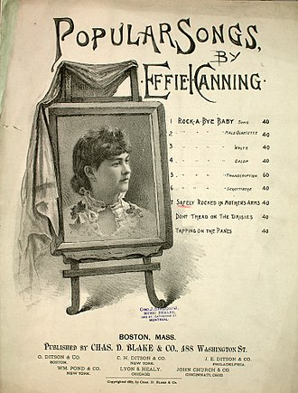 Effie I. Canning - Song sheet by Effie I. Channing