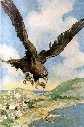 Roc (mythology) - Illustration by René Bull