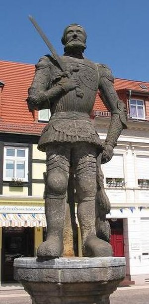 Perleberg - 16th century Roland statue