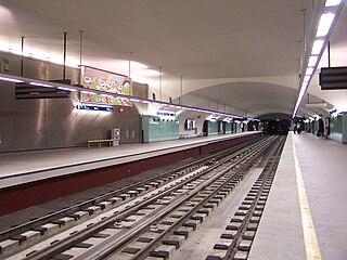 Roma (Lisbon Metro) metro station in Lisbon, Portugal