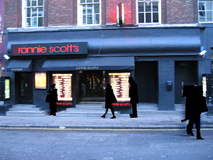 Front entrance, Ronnie Scott's Jazz Club in 2008