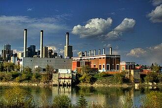 Rossdale, Edmonton - Rossdale Power Plant in 2010.