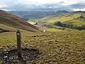 Route marker on Whiteside Hill - geograph.org.uk - 1712438.jpg