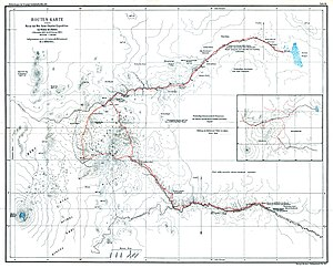 William A. Chanler - Von Höhnel's map of his and Chanler's 1892–93 journey in East Africa, showing Chanler's Falls.
