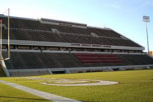Eastern Kentucky Colonels - Roy Kidd Stadium, home to EKU Football