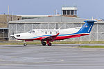 Royal Flying Doctor Service of Australia Central Operations (VH-FGS) Pilatus PC-12-45 taxiing at Wagga Wagga Airport.jpg
