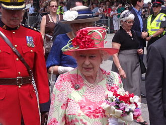 Royal tours of Canada by the Canadian Royal Family - The Queen during a walkabout in Queen's Park, Toronto, July 2010