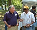 Rushern Baker 20120630 285 PG County Executive, Rushern Baker (yellow hat) (7507216684).jpg