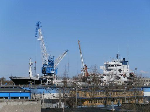 Russian Tanker in the Dock 1 Lahesuu sadam Tallinn 4 April 2014