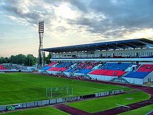 Sóstói Stadion (1967) - Image: Sóstói Stadion Fehérvár FC Vasas 2009 05 16