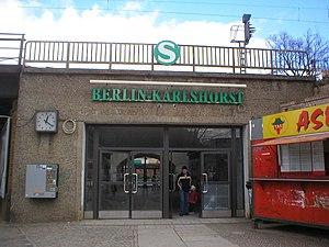 Berlin-Karlshorst station - Southern entrance to the station, 2005
