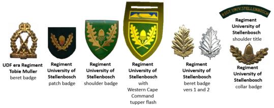 SADF Regiment University of Stellenbosch insignia