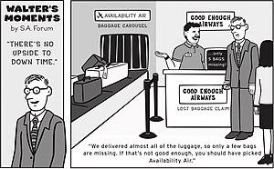 Service Availability Forum - The SA Forum's Walter's Moments cartoon series helps explain the benefits of service availability to a wider audience.