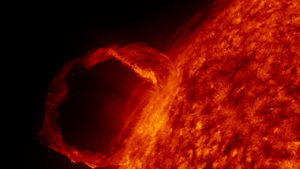 English: First light image from Solar Dynamics...