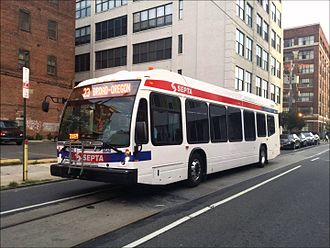 SEPTA City Transit Division surface routes - Image: SEPTA Nova Bus