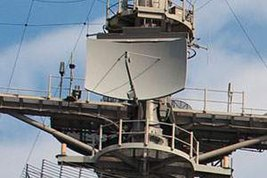 SPN-43 air traffic control radar on USS Enterprise (CVN-65) on 28 March 2012.jpg